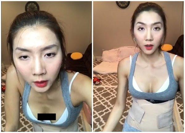 sao Việt bị lộ nội y khi livestream 13