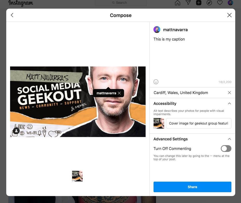Cách tạo bài viết Instagram mới trên PC và Mac-7