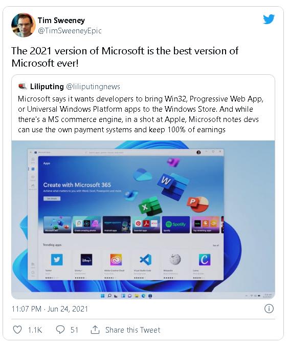 Microsoft cho phép nhà phát triển ứng dụng giữ toàn bộ doanh thu, không thu một đồng phí nào-2