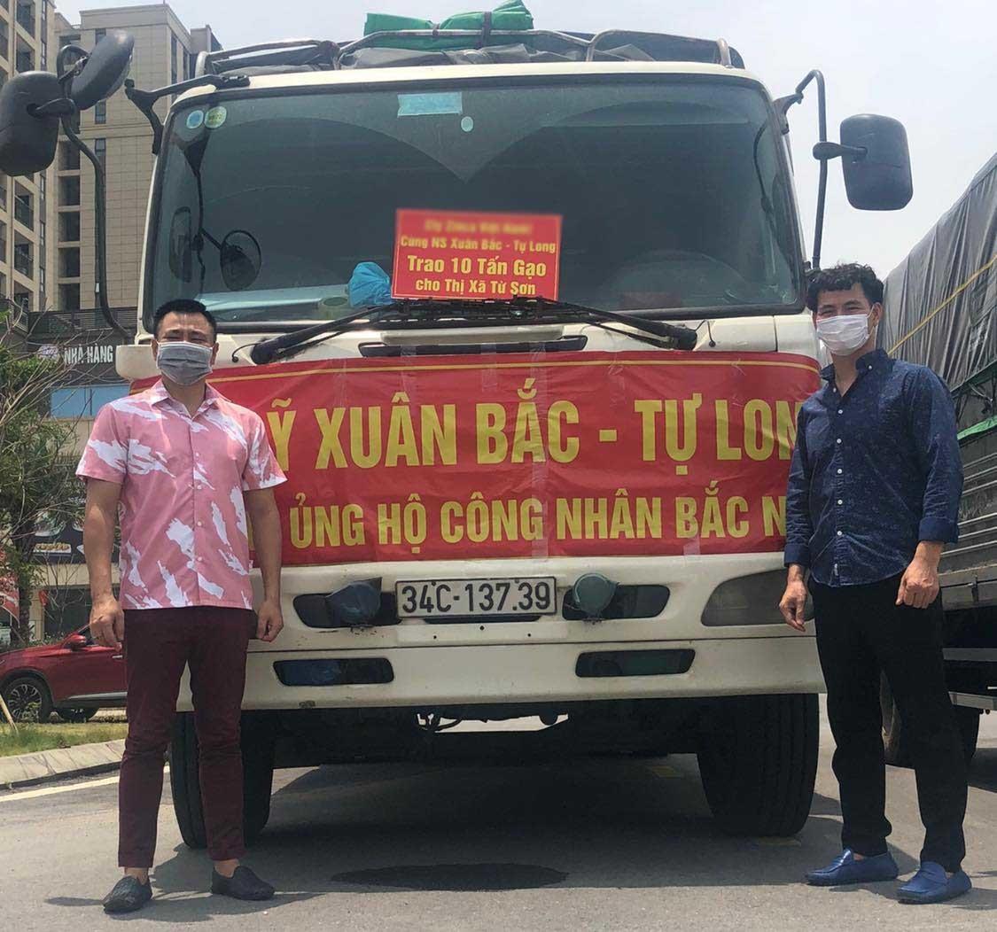 Tự Long, Xuân Bắc ủng hộ 30 tấn gạo cho Bắc Ninh chống dịch-1