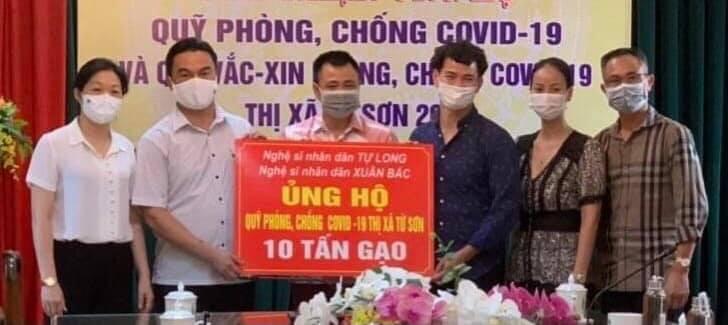 Tự Long, Xuân Bắc ủng hộ 30 tấn gạo cho Bắc Ninh chống dịch-2