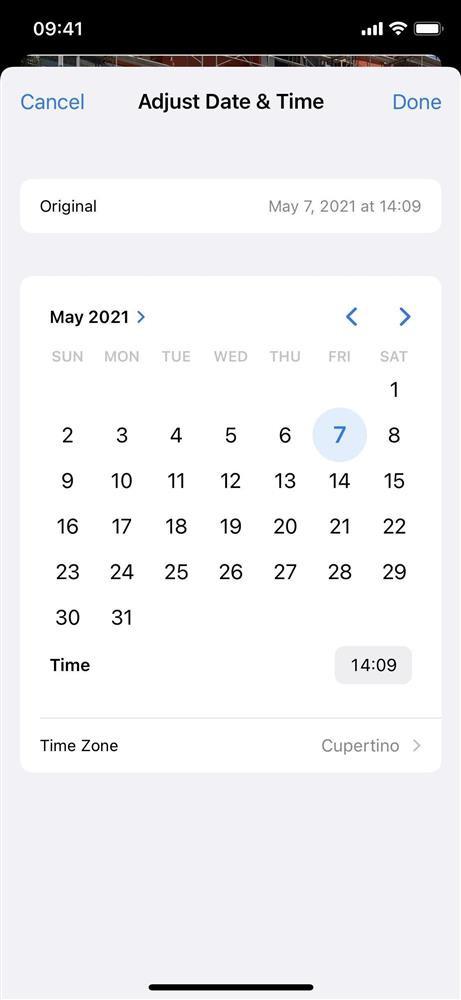 Cách thay đổi vị trí và ngày/giờ của hình ảnh trên iOS 15-12