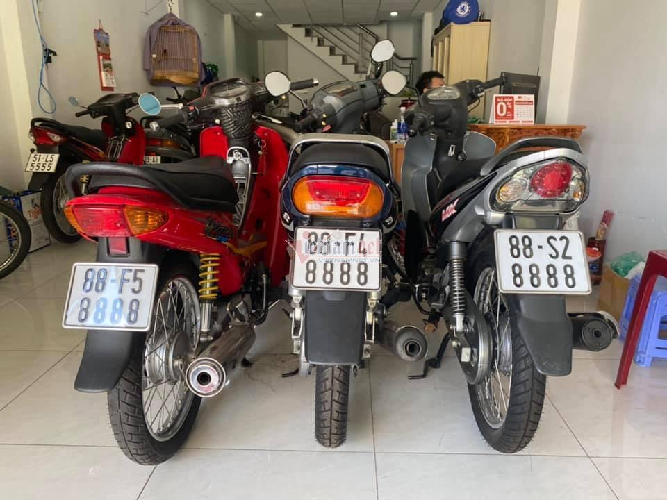 Dàn xe Honda Cub biển tứ quý cực hiếm của dân chơi Sài Gòn-6