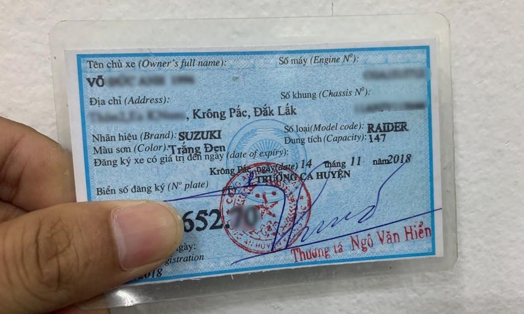 Bị mất giấy đăng ký xe máy có làm lại được không?-1