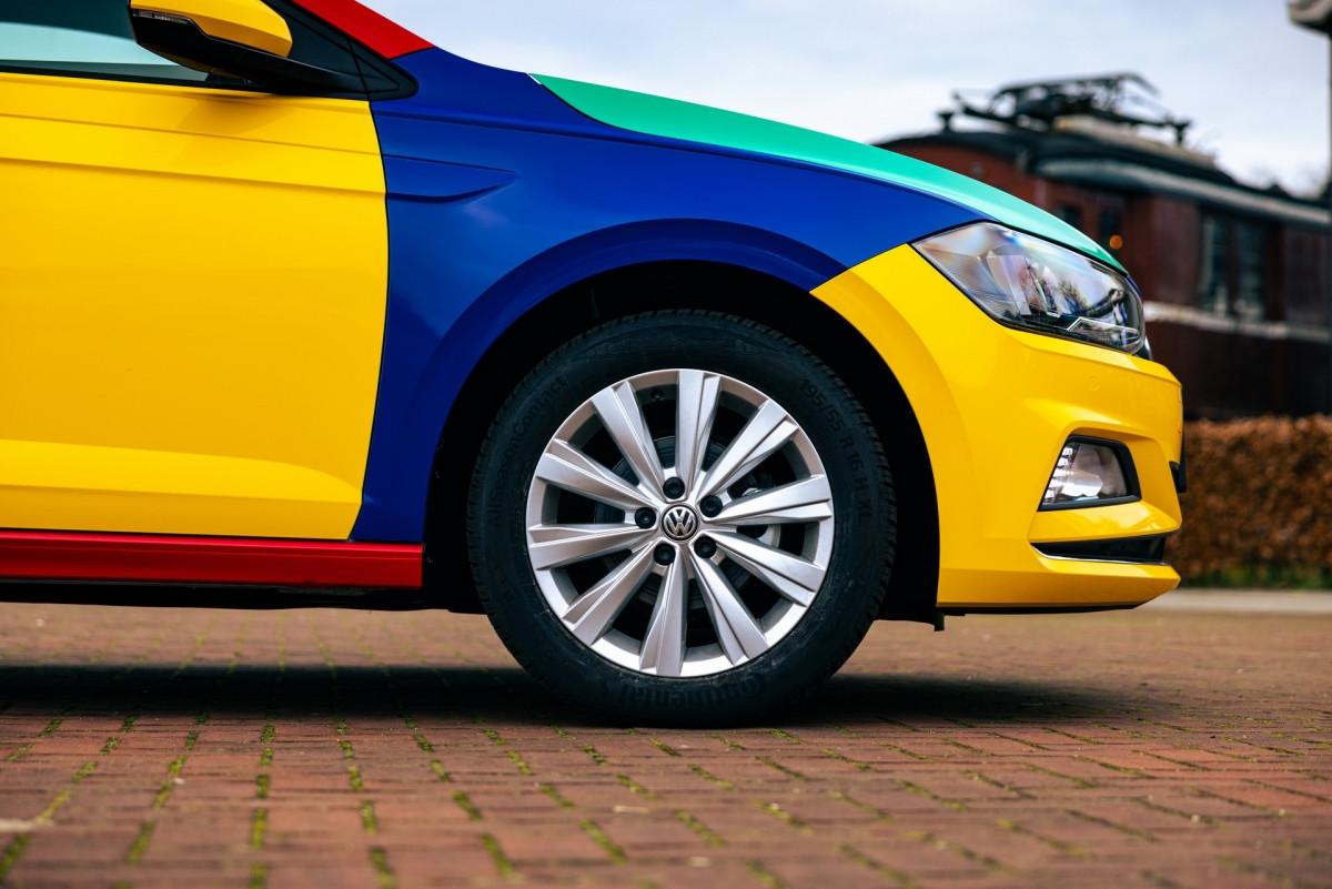 Volkswagen Polo xuất hiện với bộ áo Harlequin đầy sắc màu-7