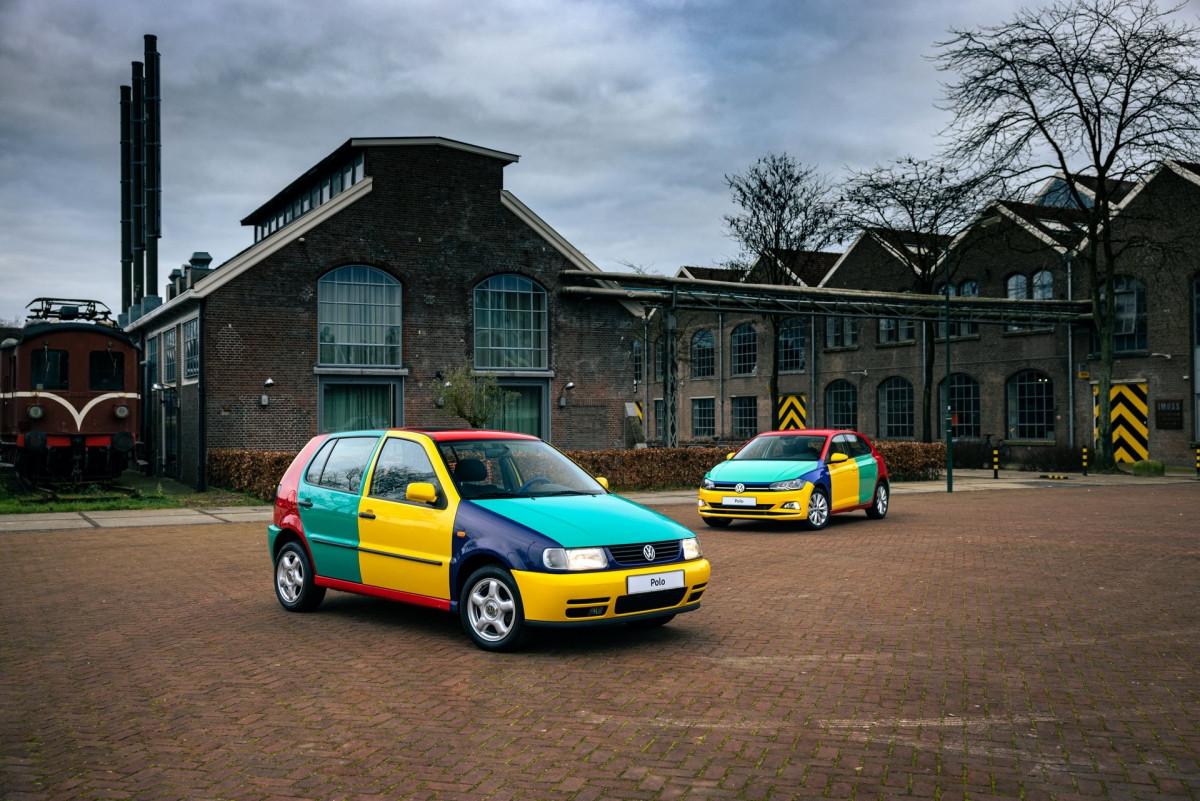 Volkswagen Polo xuất hiện với bộ áo Harlequin đầy sắc màu-3
