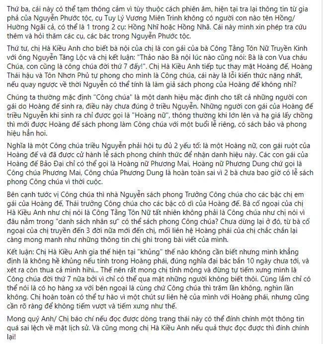 Hậu duệ nhà Nguyễn xin Hoa hậu Hà Kiều Anh hãy cẩn trọng với lịch sử-3
