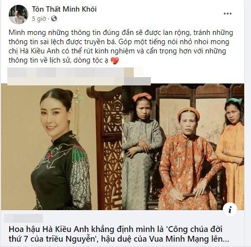 Hậu duệ nhà Nguyễn xin Hoa hậu Hà Kiều Anh hãy cẩn trọng với lịch sử-6