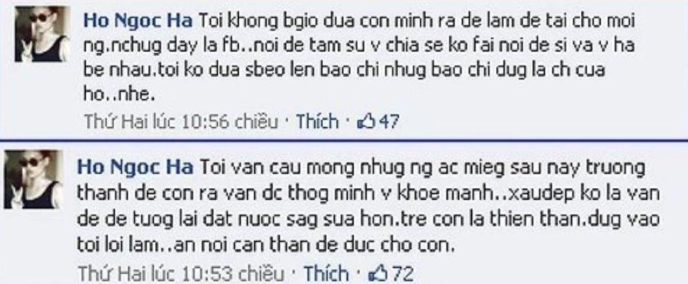 Hồ Ngọc Hà lên tiếng khi bị chỉ trích dùng cặp sinh đôi câu like khác hẳn hồi sinh Subeo-9