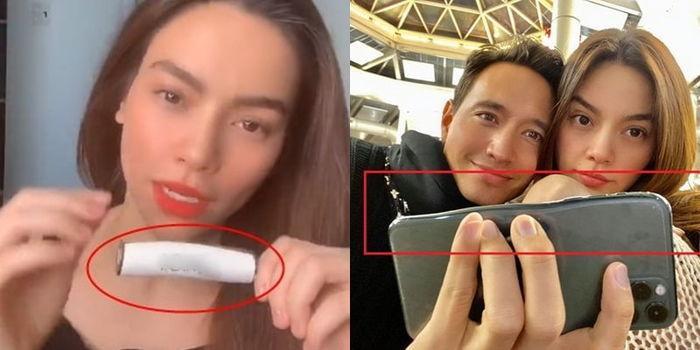 Ngọc Trinh - Nhã Phương bị soi bóp mặt đến cong méo điện thoại-10