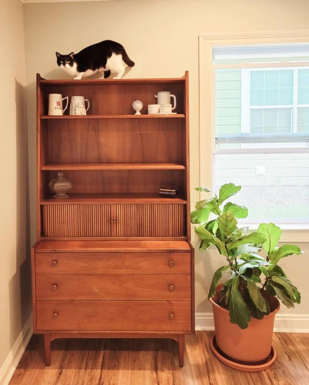 Chiếc tủ lưu trữ tài liệu từ năm 1963 tân trang và trở thành vật dụng hữu ích.