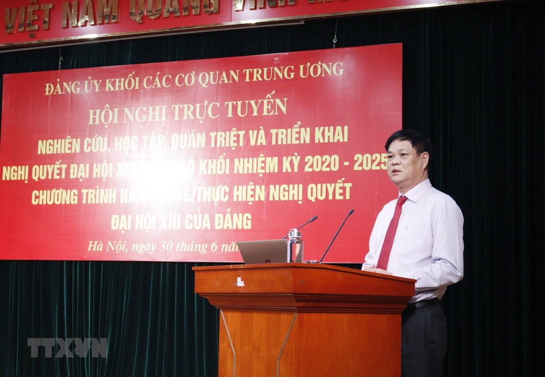 Dang bo Khoi co quan Trung uong quan triet Nghi quyet Dai hoi XIII hinh anh 1