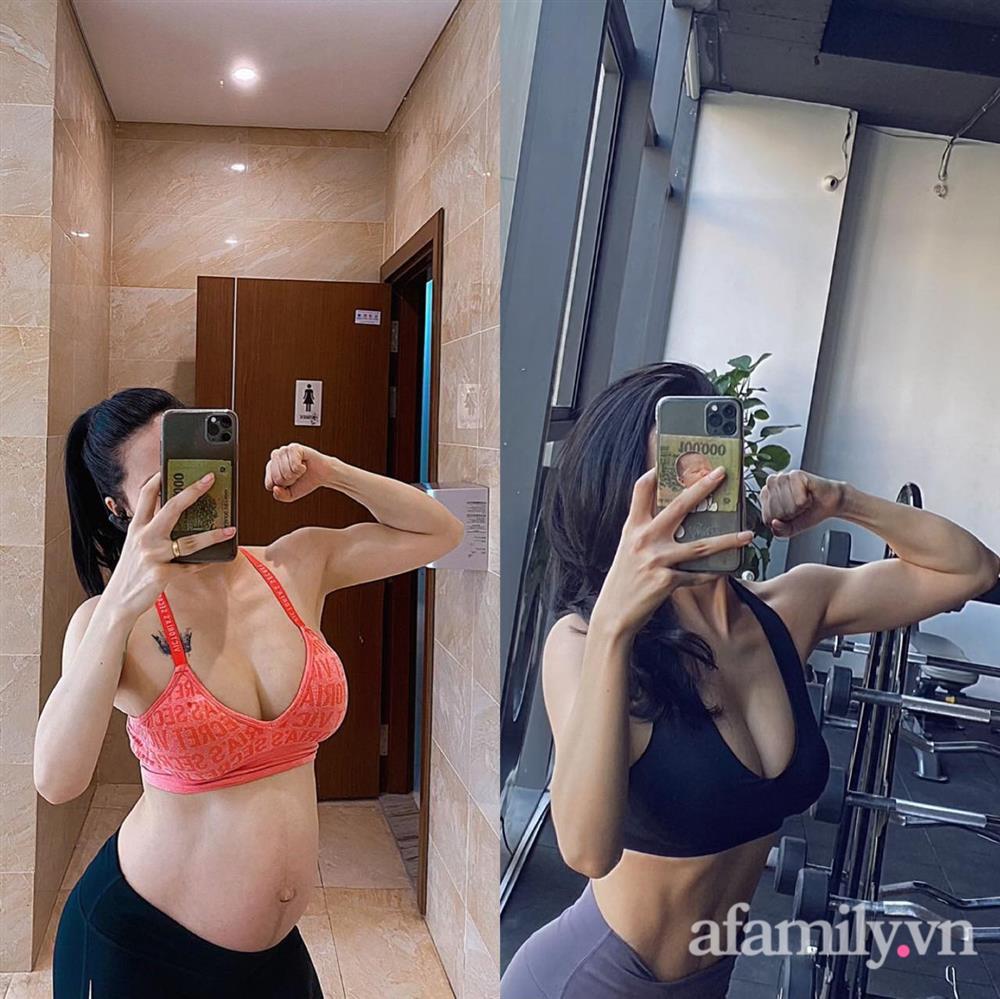 Mẹ 9x khoe cơ bụng đẹp nức nở dù mới sinh con 3 tháng, chỉ ra sai lầm của nhiều chị em khiến việc giảm cân sau sinh thất bại-13