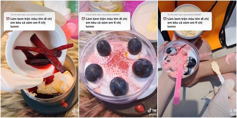 Ngã ngửa màn pha kem trộn mix cả sầu riêng, trộn kem như làm bánh gato-1