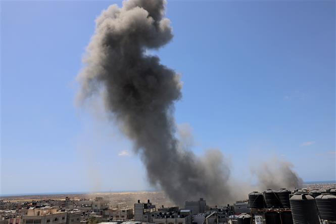 Israel khong kich cac co so quan su cua Hamas o Dai Gaza hinh anh 1