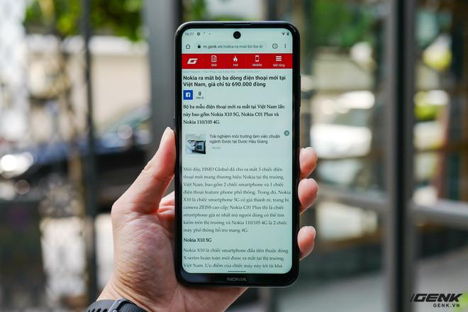 Trên tay Nokia X10: cụm 4 camera Zeiss độc đáo, vi xử lý Snapdragon 480, có hỗ trợ 5G - Ảnh 15.