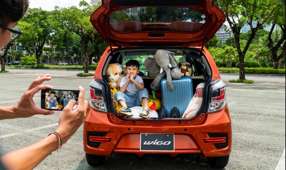 Khoang chứa đồ rộng rãi của Toyota Wigo rộng rãi hơn so với vẻ ngoài