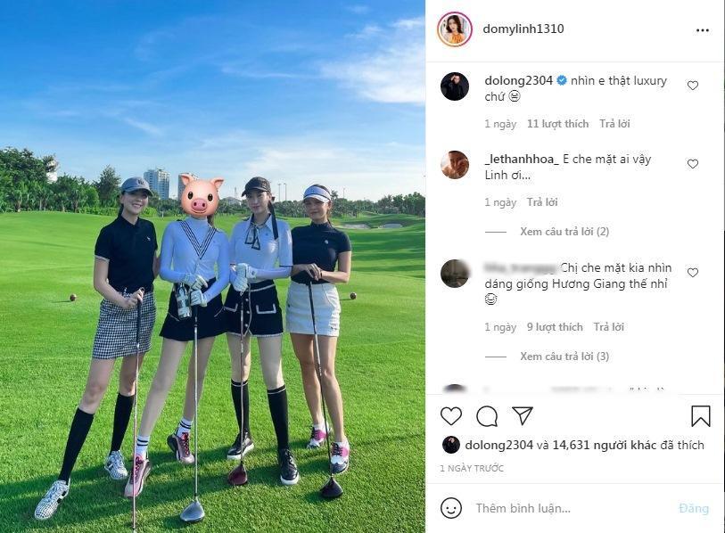 Sau 4 tháng ở ẩn, Hương Giang tái xuất đi chơi golf cùng Đỗ Mỹ Linh?-3
