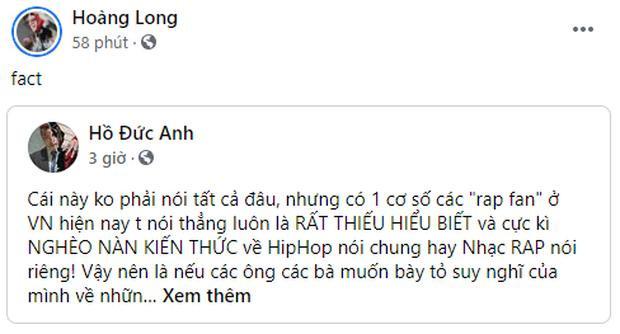 Thí sinh Rap Việt đồng loạt chia sẻ bài viết chỉ trích rap fan dốt nát-3