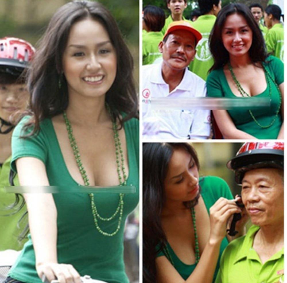 Bộ sưu tập giày lênh khênh, áo hở ngực của mỹ nhân Việt khi đi từ thiện-6