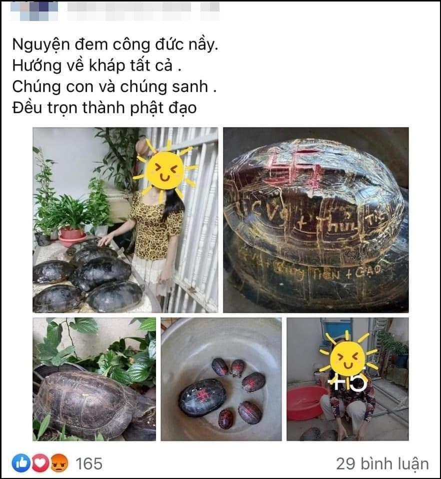 Mẹ Thủy Tiên gây phẫn nộ khi khoe mai rùa khắc tên vợ chồng con gái-3