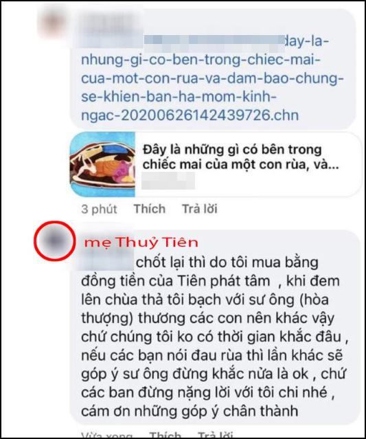 Mẹ Thủy Tiên gây phẫn nộ khi khoe mai rùa khắc tên vợ chồng con gái-7