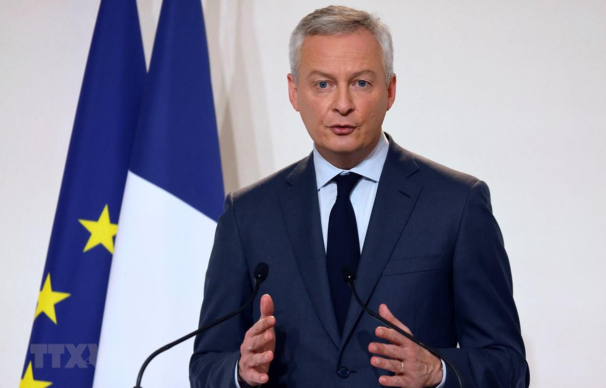 Bộ trưởng Tài chính Pháp Bruno Le Maire. (Ảnh: AFP/TTXVN)