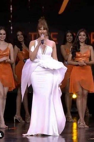 Hoa hậu Hoàn vũ tăng cân như... đô vật, 3 vòng thẳng đuột-1