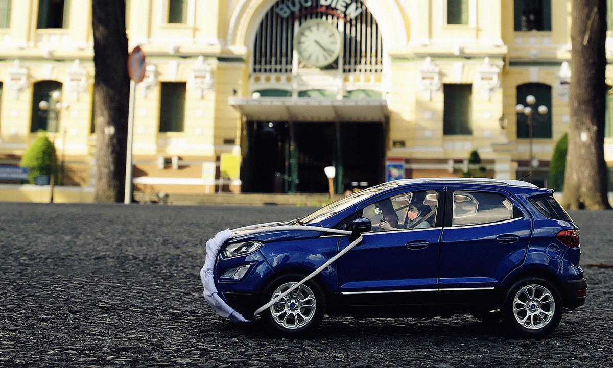 """Đồng hành cùng chủ xe mùa COVID, Ford EcoSport """"cũng phải"""" đeo khẩu trang"""