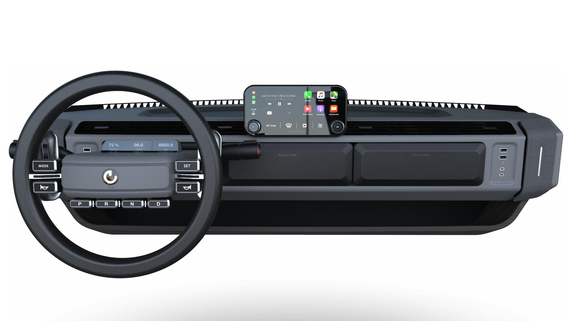 Bảng điều khiển trung tâm của xe XBUS