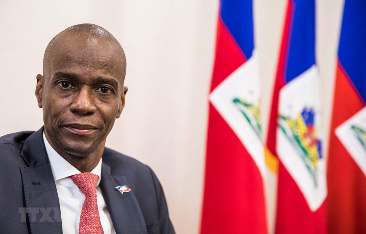 Cố Tổng thống Haiti Jovenel Moise trả lời phỏng vấn báo chí tại Port-au-Prince, ngày 22/10/2019. (Ảnh: AFP/TTXVN)