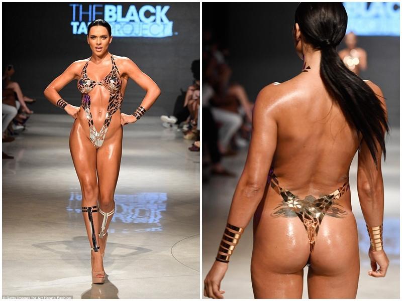 Buổi trình diễn bikini băng dính hở 80% cơ thể gây phản cảm-10