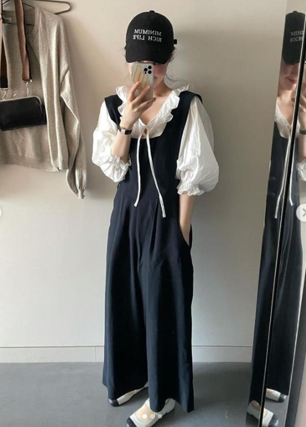 Mix đồ với váy yếm: Jennie BLACKPINK gợi cảm, IU hóa tiểu thư-8