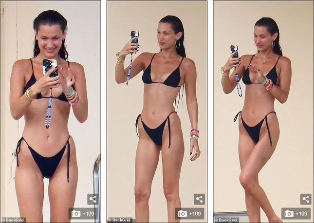 Bella Hadid diện bikini sexy hết nấc, tình bể bình bên bạn trai mới-3