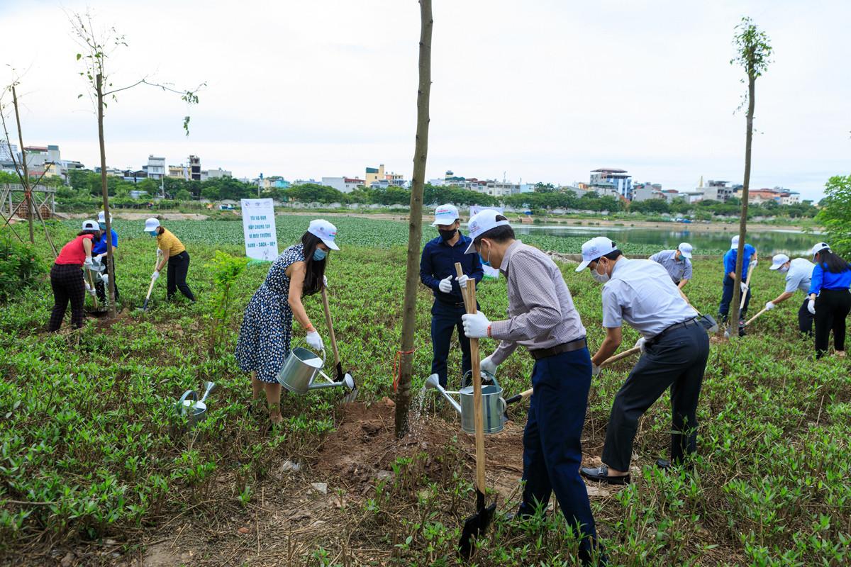 Hoạt động trồng cây hưởng ứng tháng hành động vì môi trường