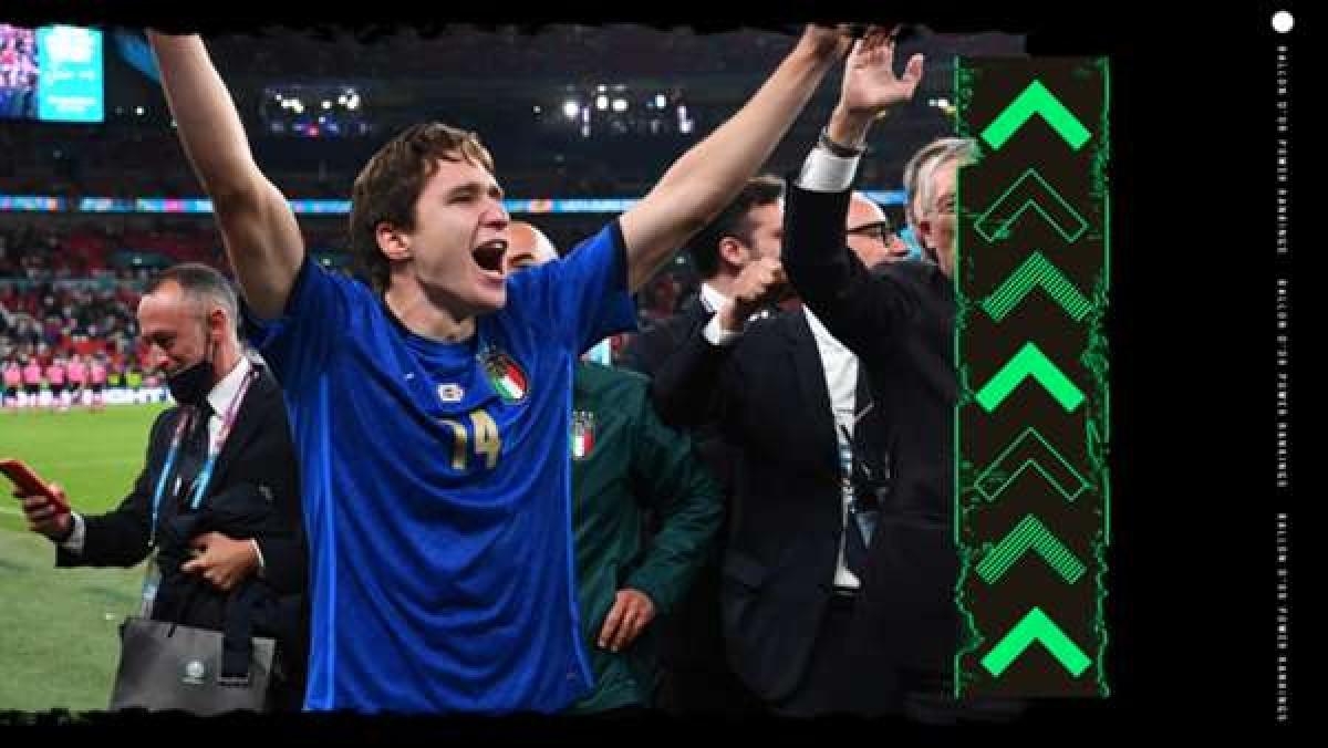 10. Federico Chiesa (Juventus) | Thành tích trong năm 2021: 14 bàn thắng, 5 kiến tạo. Vô địch EURO 2021, Coppa Italia & Siêu cúp Italia.