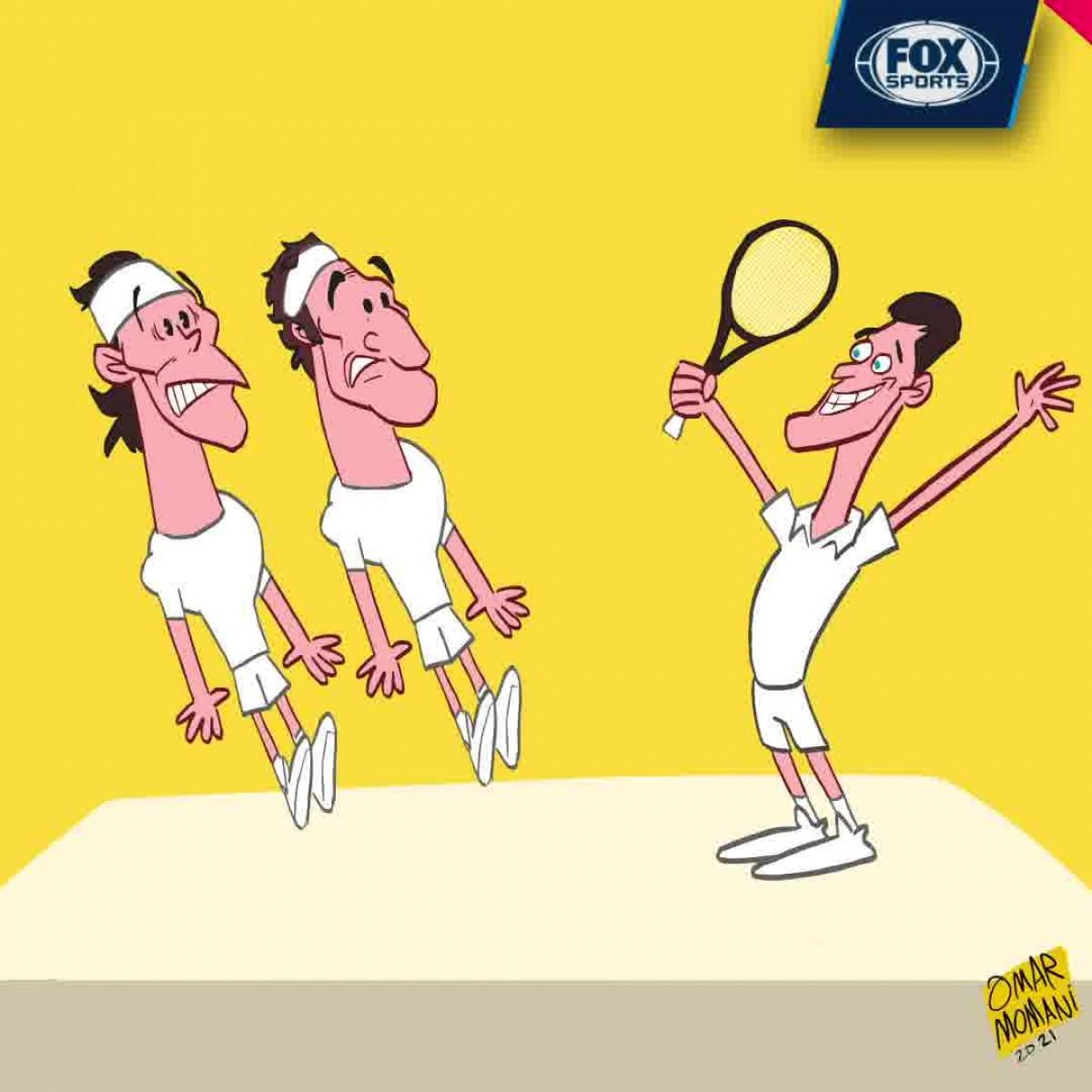 Djokovic sau chức vô địch ởWimbledon đã san bằng thành tích của hai tay vợt trên.