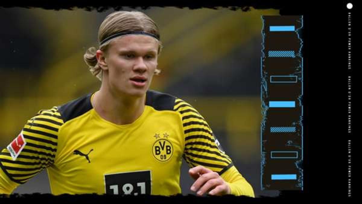 9. Erling Haaland (Borussia Dortmund) | Thành tích trong năm 2021: 25 bàn thắng, 9 kiến tạo. Vô địch DFB-Pokal.