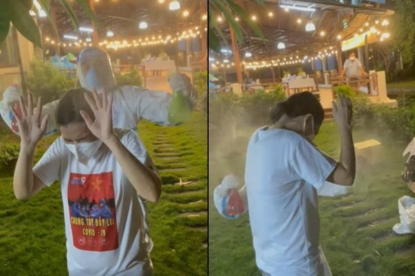 Phương Thanh cắt tóc cho các y bác sĩ, dân quân mùa dịch-11