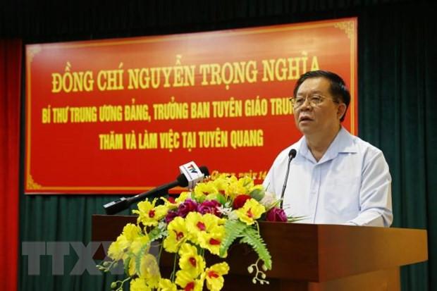 Tuyen Quang: Som dua nghi quyet Dai hoi Dang di vao cuoc song hinh anh 1