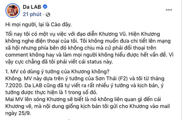 Da LAB bị đạo diễn Khương Vũ tố ăn cắp chất xám 7