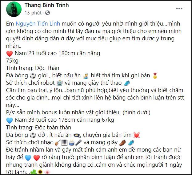 Sáng tỏ tin đồn cầu thủ Tiến Linh hẹn hò chân dài Quỳnh Thư?-1