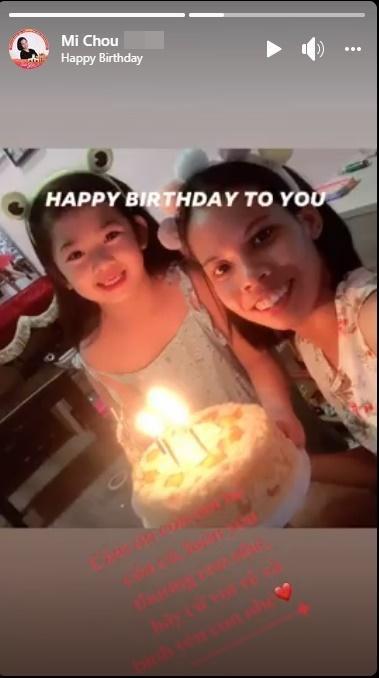 Con gái Mai Phương nói câu xúc động ngày sinh nhật bảo mẫu-2