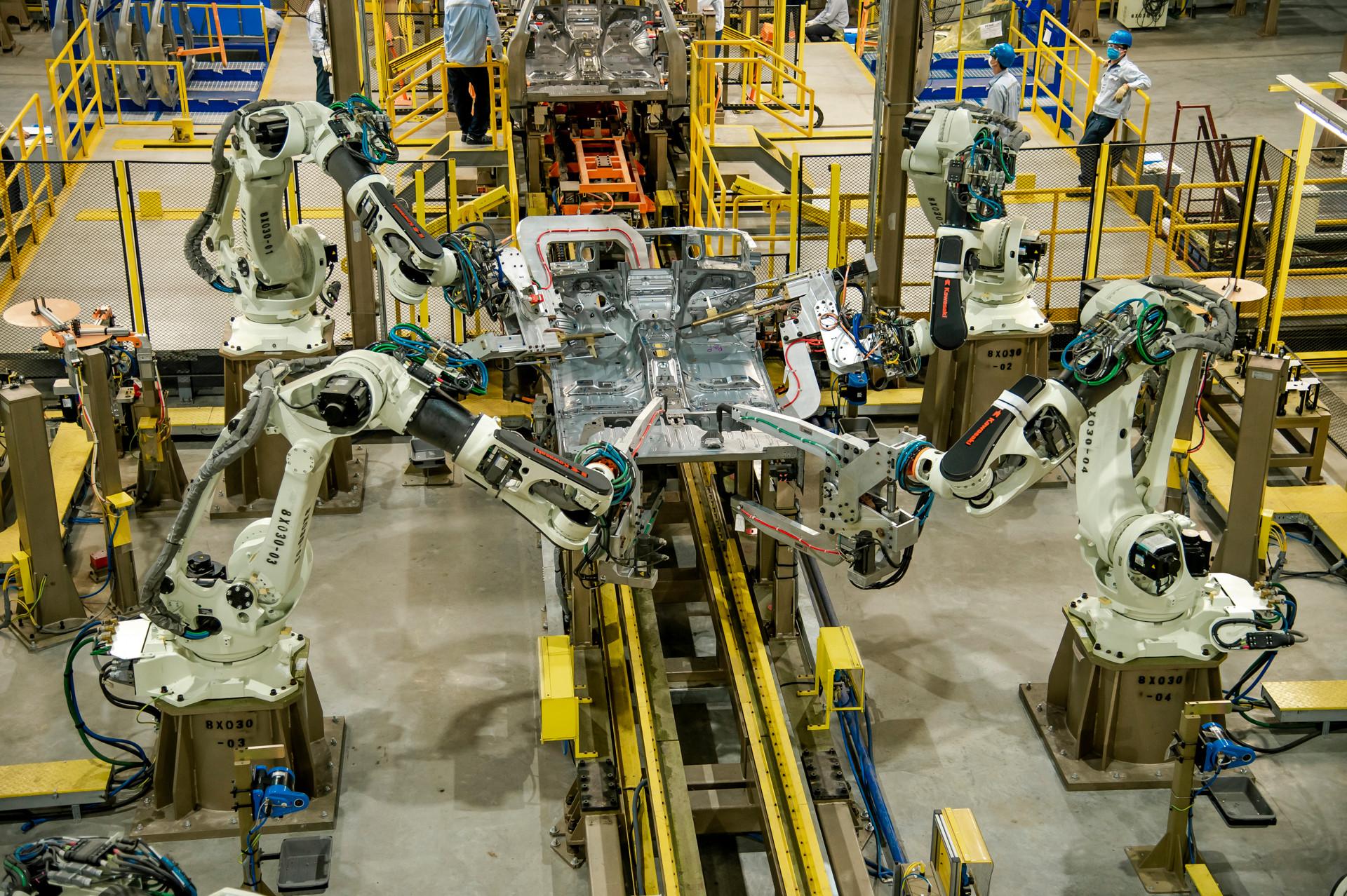 Xưởng hàn mới tại nhà máy Ford Hải Dương