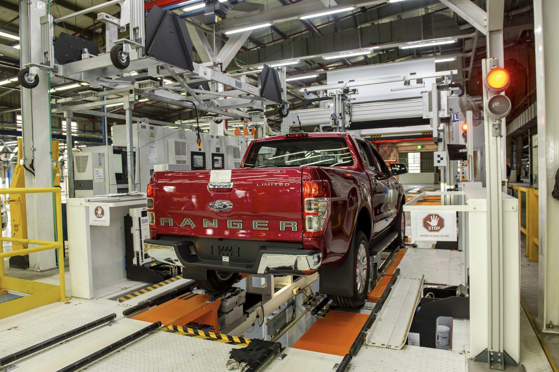Hệ thống kiểm tra xe trước khi xuất xưởng tại nhà máy Ford Hải Dương