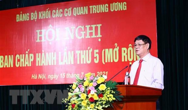Hoi nghi Ban Chap hanh Dang bo Khoi cac co quan TW lan thu 5 mo rong hinh anh 2