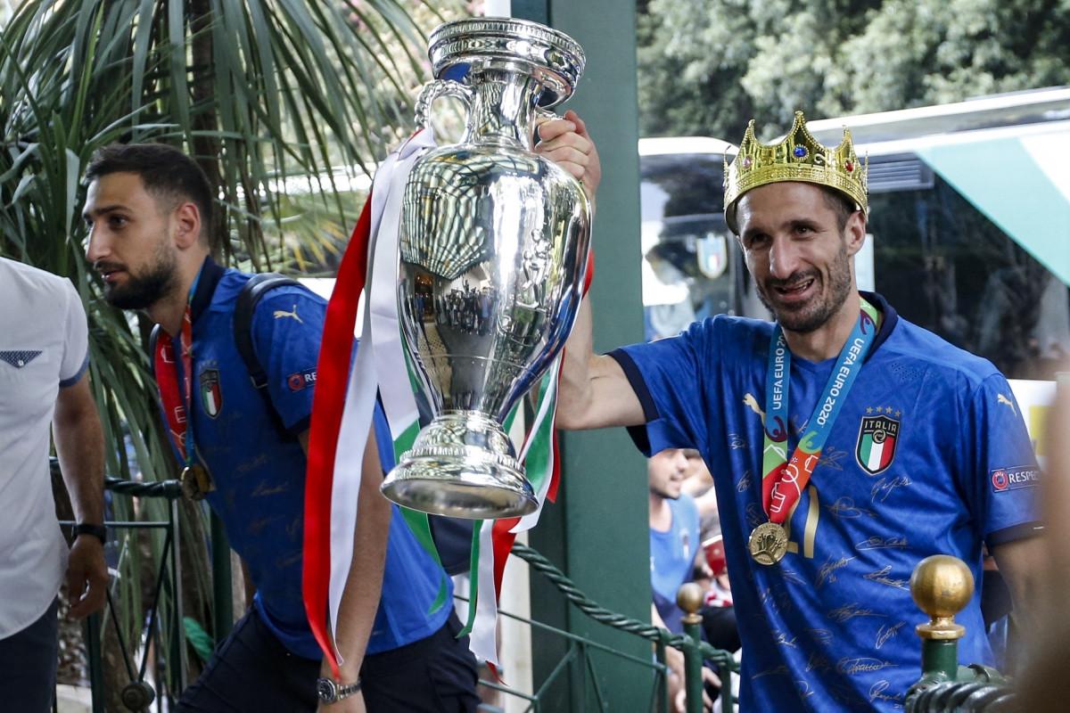 Chiellini là cầu thủ tự do duy nhất trong đội hình Italia vô địch EURO 2021. (Ảnh: Reuters)
