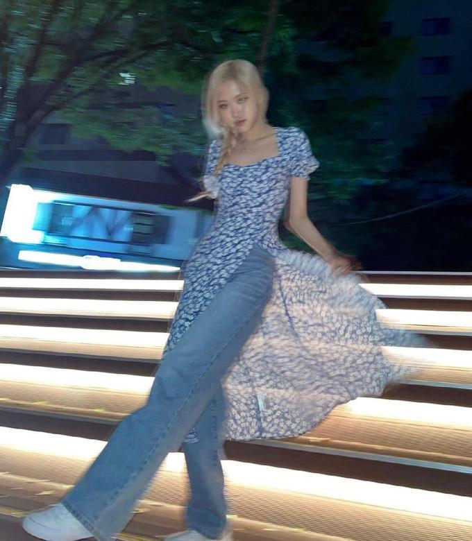 Học Rosé BlackPink mặc váy với quần, Ngọc Trinh nhìn vừa ngốt vừa rối rắm-5
