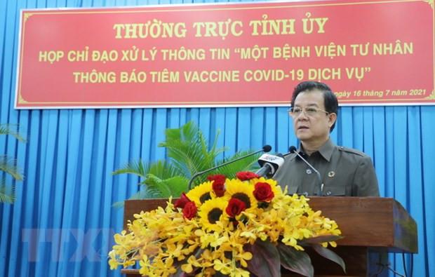 An Giang: Xu ly nghiem viec thong bao khong ve dich vu tiem vaccine hinh anh 1