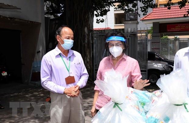 Lanh dao Thanh pho Ho Chi Minh tham cac khu cach ly tap trung hinh anh 1